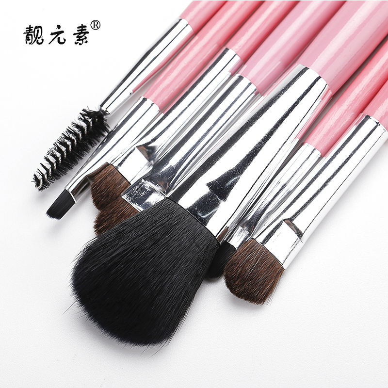 New Arrivals Makeup Brushes Soft Synthetic Collection Set 7pcs Kit Wood Handle Make Up Brush