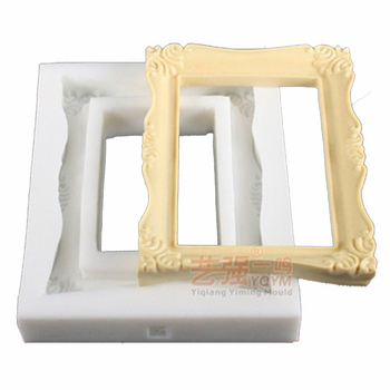 silicone chocolate mold picture frame,silicone cake mould picture frame,holder mould picture frame