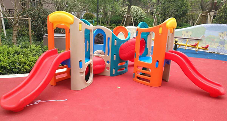 Playground children plastic slide