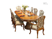 Baroque style dining room furniture Hand carved dining table and chair Solid wood dining furniture