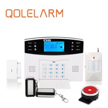 GSM security wireless smart elderly security alarm system can work with panic button