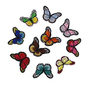 Beautiful Custom Design Butterfly Shaped Embroidery Badge Patch Embroidered Iron On Design Patch P035