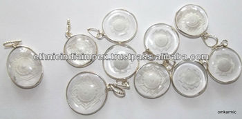 Crystal sriyantra pendant buy sriyantra engraved pendantenergy crystal sriyantra pendant mozeypictures Images