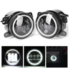 4inch LED Driving Fog Light with White Halo Ring for Jeep Wrangler JK 2D/4D