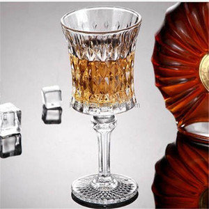 Manufacturer High White Material Lead-free Goblet Red Wine Crystal Diamond Glasses .
