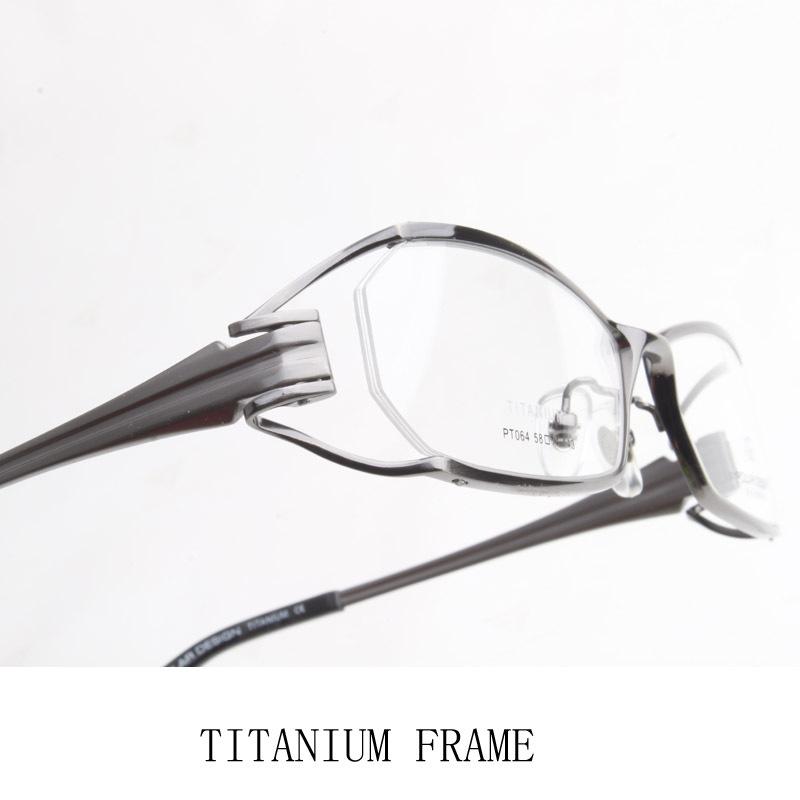 67e3b3173a Titanium Half Rim Eyeglass Frames