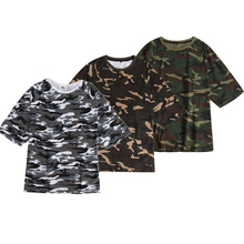 Wholesales high quality military clothing 100% cotton camo t shirts mens