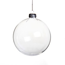 100 Wholesale Clear Glass Christmas Bubble Ball Tree Ornament