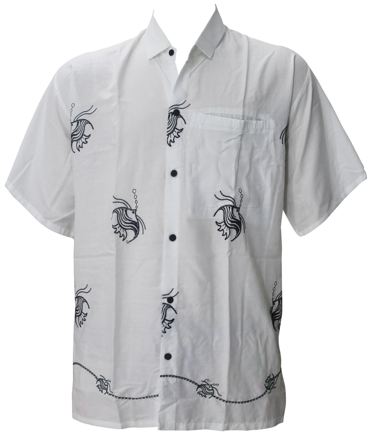 5484c079 La Leela Aloha Hawaiian Tropical BEACH Solid plain Mens Casual Short  Sleeves Button Down Tropical Shirts XL White