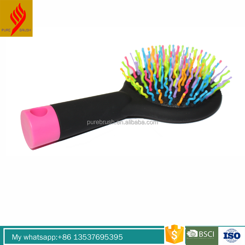 ISO certified colorful baby hair brush with Mirror