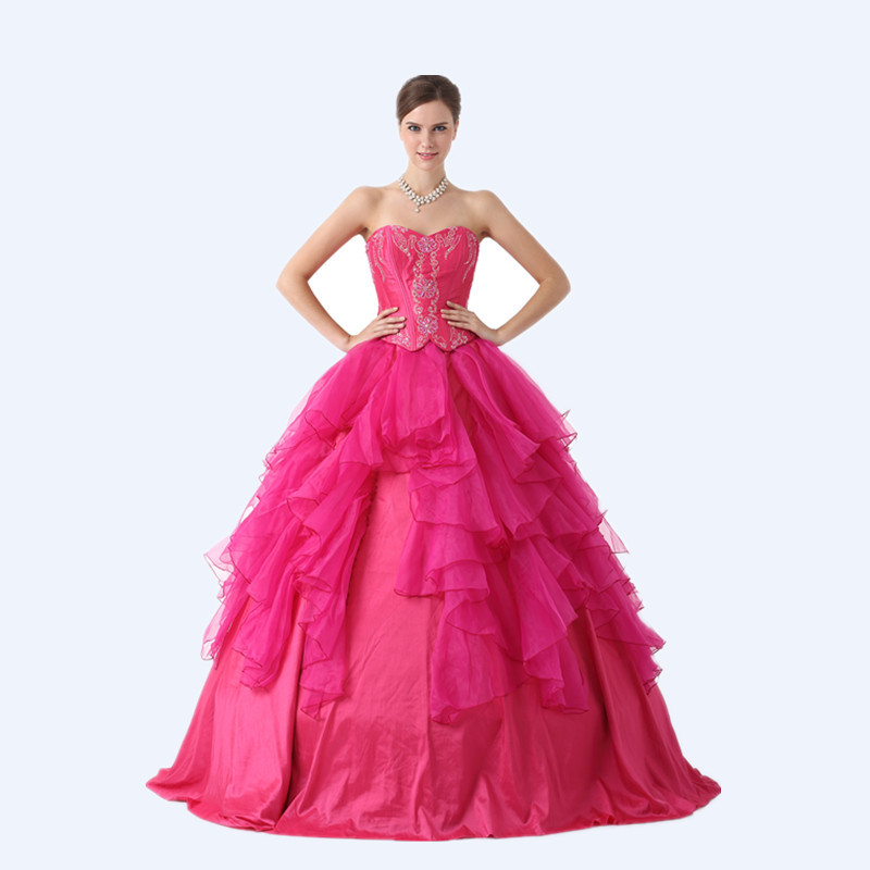 7343068c45d Get Quotations · Quinceanera 15 Years Vestidos De 15 Anos 2015 Princess Quinceanera  Dresses Sweetheart Beading Rose Red Ball
