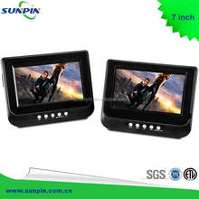 Twin Screen 7inch Headrest DVD Player Car Dual Screen In Car DVD Portable DVD Player