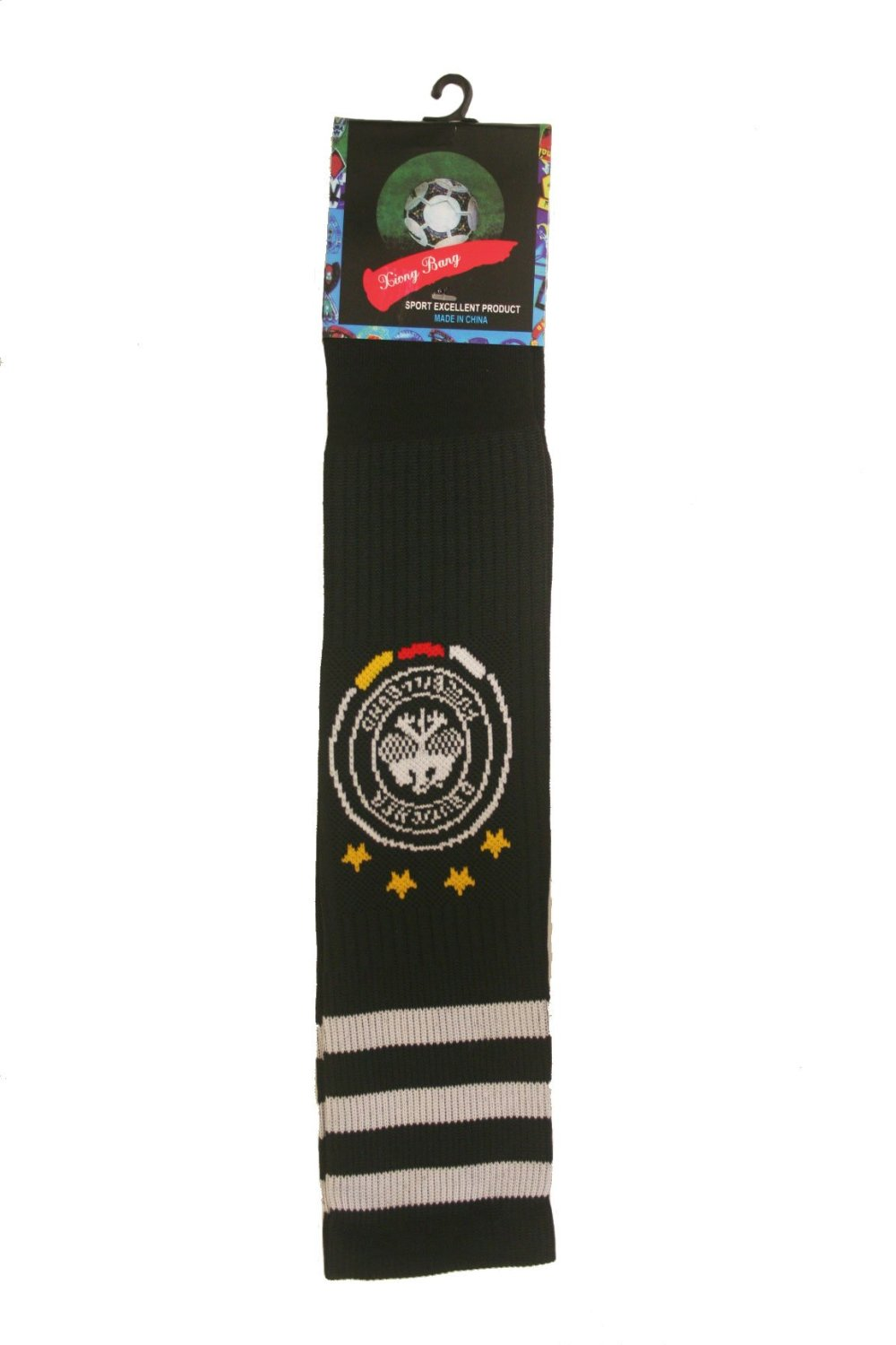 GERMANY DEUTSCHLAND Black 4 Stars World Cup SOCCER Socks .. Adult Size .. New