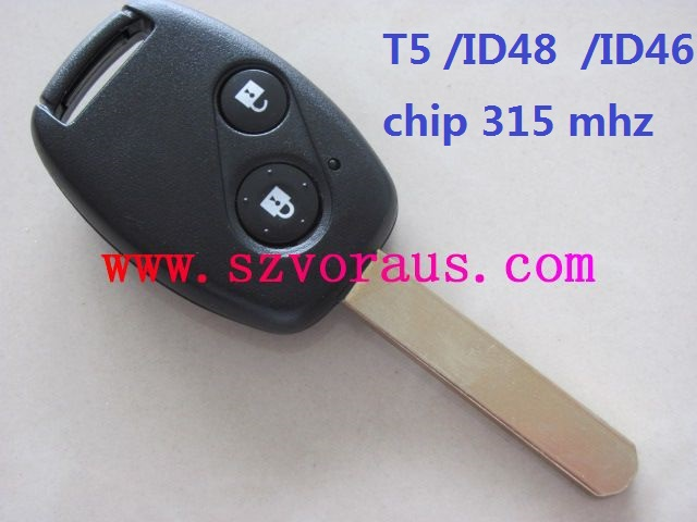 Ho 2 button remote key (1-7 generation)with T5/ID46 chip 315mhz , auto remote key