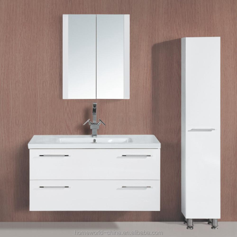 Contemporary Wall Hanging Waterproof Bathroom Vanity Cabinets - Buy ...