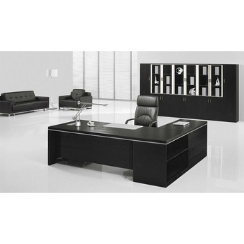 on sale 3abfc 10f54 Black office furniture set wooden Executive Desk 7.9ft (FOH-BA24-B ), View  executive desk, FOH Product Details from Guangzhou Mega Import And Export  ...
