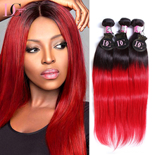 New Aliexpress Hot Selling 9A Grade Ombre Straight 1B Red Color Peruvian Hai