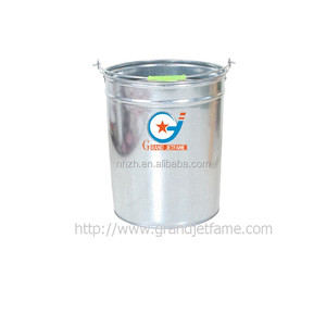 Factory price 5 gallon metal bucket galvanized metal pails iron water bucket