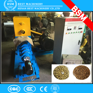 BMP90 Twin screw extruder type floating fish feed pellet making processing line