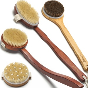 BV Certificated Manufacture Long Wooden Handle Detachable Brush Bath brush Body Wash Brush
