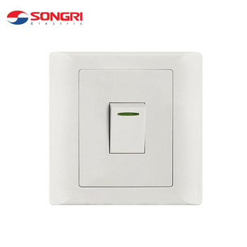 New Type White Click Home 10a 1 Gang 1way Electrical Wall Lighting Switch