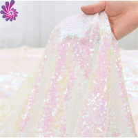 wholesale cheap rose gold lace net shinny tulle embroidery sequin fabric