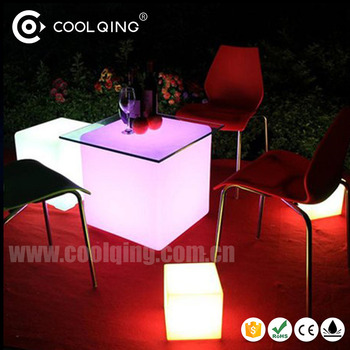 Astounding Epoxy Resin 50Cm Waterproof Led Cube Plastic Outdoor Furniture Buy Plastic Outdoor Furniture White Resin Outdoor Furniture Led Cube Furniture Sale Squirreltailoven Fun Painted Chair Ideas Images Squirreltailovenorg