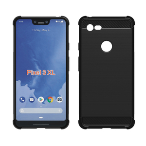 Alibaba Best Selling Mobile Skin Silicone Carbon Fiber 2D Sublimation Phone Case for Google Pixel 3X L