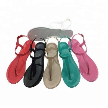 799b1fcc85519b Summer Beach Pvc Ladies Fancy Flat Wholesale Jelly Sandals - Buy ...