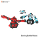 Multi-functional double pack fight 360 degree rotating rc boxing battle robot with sound