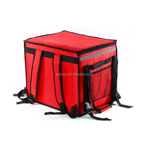 Custom Logo Red Insulated Thermal Pizza Delivery Backpack Fast Food Delivery Bag