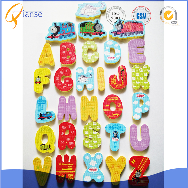Customized factory price popular alphanumeric-shaped eco-friendly educational funny EVA foam bath toy for children
