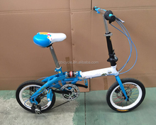 mini bicycle blue good quality 12 size folding bike