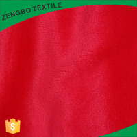 100 polyester stretch weft knitted blood red velvet fabric wholesale