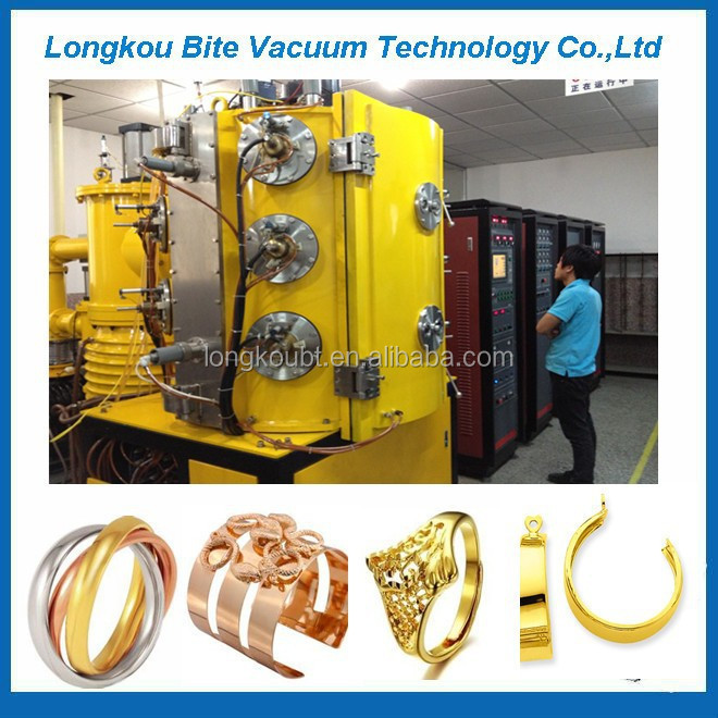 18k Yellow Gold Jewelry Pvd Coating Machine18k Gold Plated Jewelry