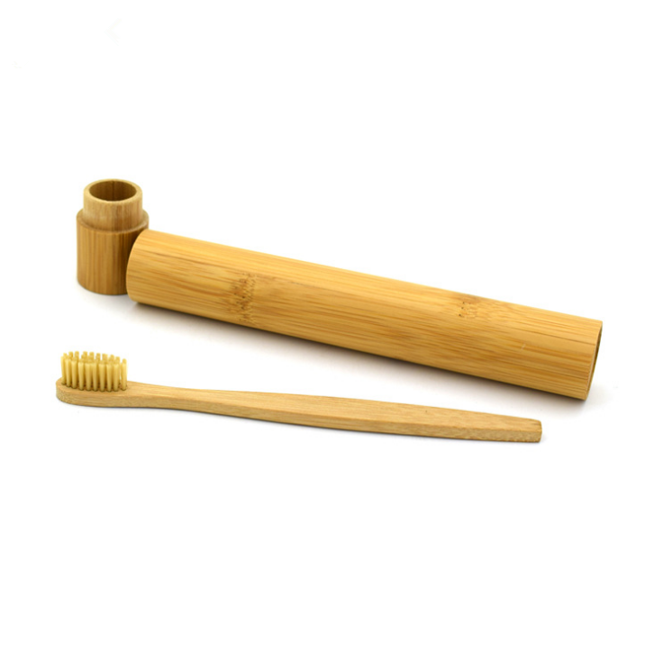 Eco-Friendly Natural Laser Engraved Private Label logo Bamboo Toothbrush