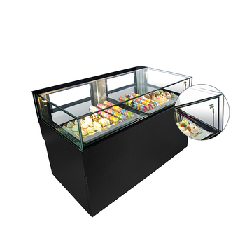 Drawer type Commercial table top cake display counter chiller for bakery