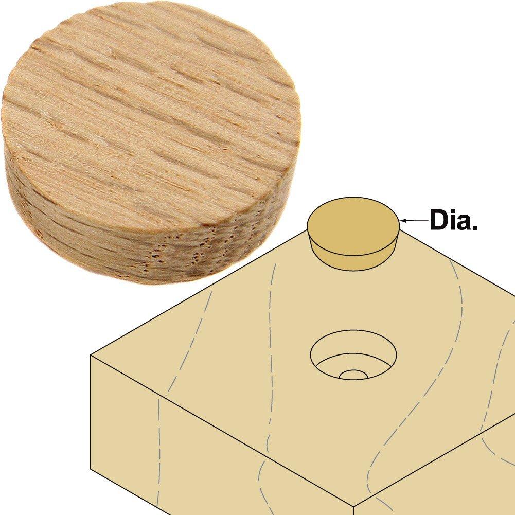 "Platte River 800033, Wood Specialties, Buttons & Plugs, 3/4"" Oak Side Grain Plugs, 100-pack"