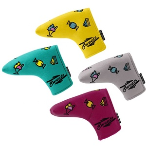 Magnetic Closure Customized Golf PU Blade Putter Covers Headcover