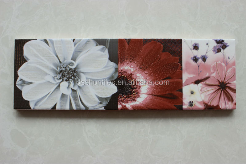 3D Digital inkjet decorative Border Ceramic Wall Tiles
