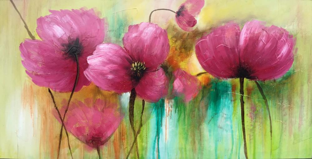 Venta al por mayor cuadros modernos flores abstractos for Fotos de cuadros abstractos sencillos