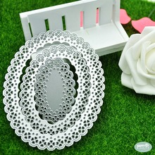 Oval shape scrapbook metal dies custom craft cutting dies for DIY craft