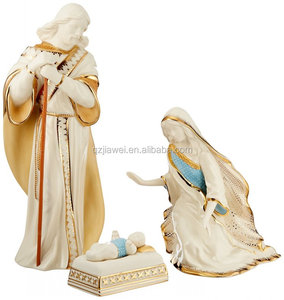 Set of 3 Blessing Nativity The Holy Family Figurines Home Decoration Accessories