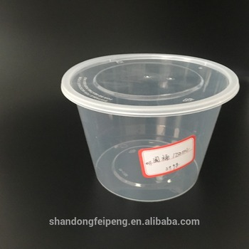 1750 Ml Transparent And Round Disposable Clear Big Plastic Food