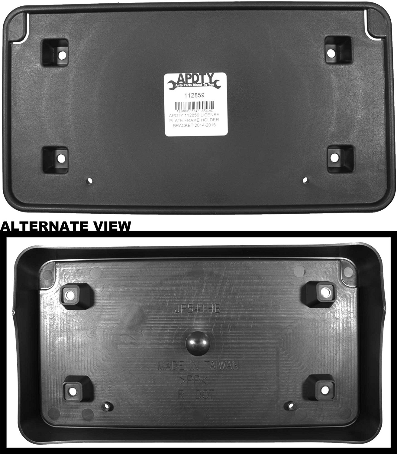 APDTY 112859 License Plate Frame Holder Bracket 2014-2015 Jeep Grand Cherokee (Replaces Mopar 68144511AD, 68144511AC)