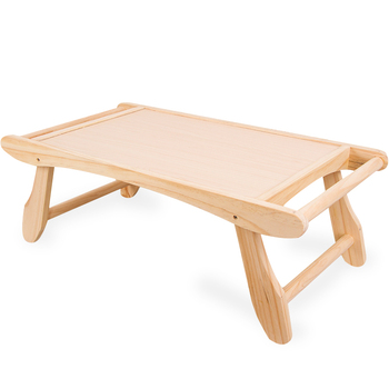 Wooden Portable Computer Folding Desk Simple Dormitory Bed Study Laptop  Table