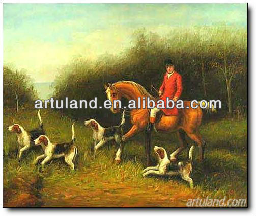 100% Handmade high quality replica of Famous paintings dogs