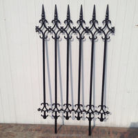 Garden decoration customized integrally cast iron fence