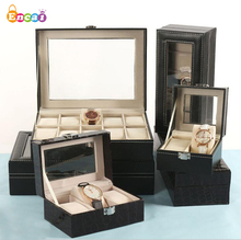 Encai Luxury Jewelry Case PU Watch Box 와 Mirror