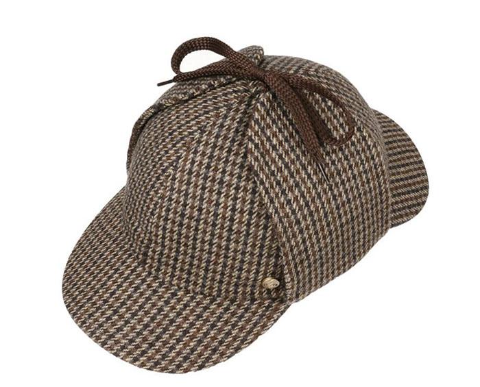 a7b3e2f58fe62 Houndstooth Cap Detective Double Brim Custom Low Cut Baseball Hats ...